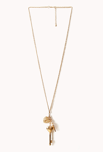 Heart Key & Lock Necklace | FOREVER21 - 1026486714