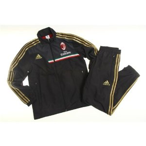 Amazon.com : 2013-14 AC Milan Adidas Presentation Tracksuit (Black) : Athletic Tracksuits : Sports & Outdoors
