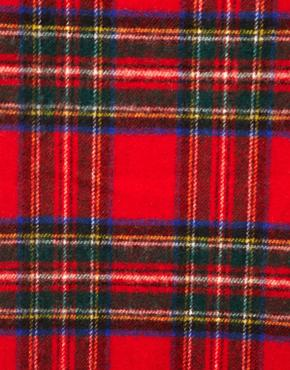 Johnstons   Johnstons Lambswool Plaid Scarf at ASOS