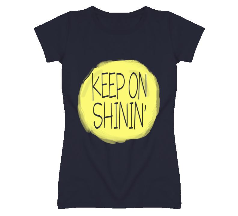 Keep On Shining Cute Sun Graphic T Shirt