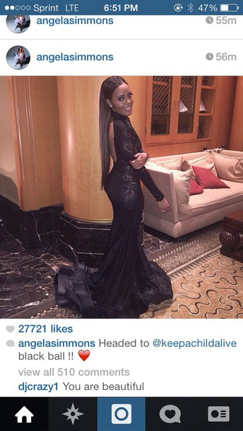 dress black ball dress angela simmons