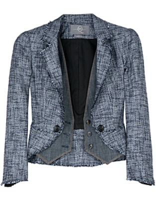 ASOS Fashion Finder | Blue Basket Weave Waistcoat Jacket by McQ Alexander McQueen