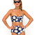 Buy Motel Longline Bikini in Wild Daisy at Motel Rocks