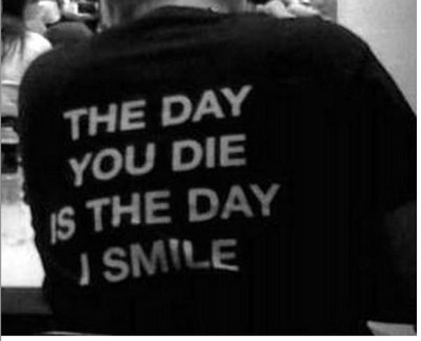 t-shirt smile black white shirt die day jacket