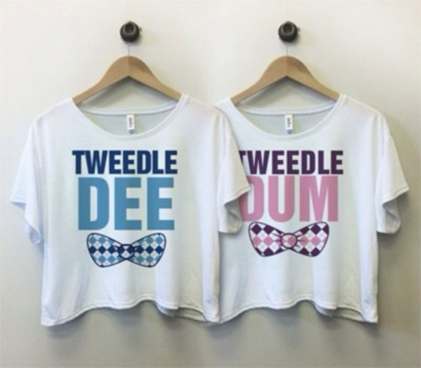 t-shirt shirt tweedle dee tweedle dee cool shirts awsomeness