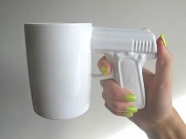 gun cup mug tea mug nail varnish home accessory cup weaponry white glass coffee tea green kitchen jewels weapon dope wishlist