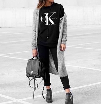 t-shirt calvin calvin klein designer na-kd black casual trendy logo shirt logo tee