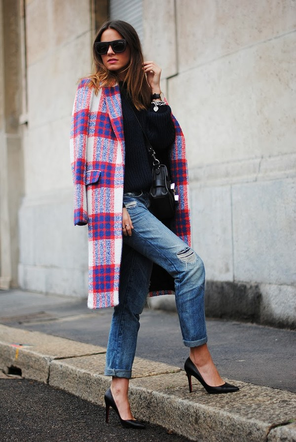 fashion vibe coat jeans shoes sweater bag sunglasses