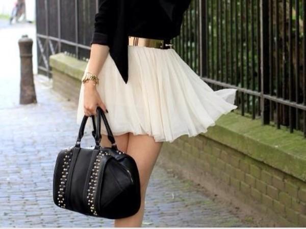 skirt mini skirt lights bag belt sweet skirt vest jacket pretty dress beige white dress amazing elegant jupe chiffon cute