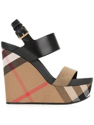 women sandals wedge sandals leather cotton suede black shoes