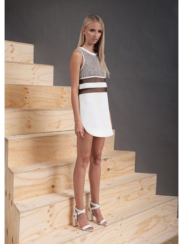 CAMEO The Embers Dress BLACK/ IVORY