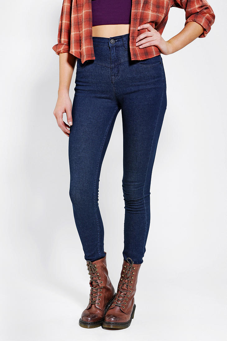 BDG High-Rise Seamed Jean - Pure Blue - Urban Outfitters