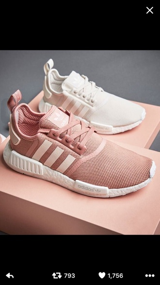 shoes pink adidas adidas shoes white sneakers trainers white girly pink shoes pale link adidas pink sneakers low top sneakers rose sneakers pastel instagram pastel sneakers rose gold adidas nmd running shoes salmon sports shoes pink addidas cute need  want adidas nmd r1 pink light pink pink adidas cute shoes sweater adidas pink adidas ultra boost gym
