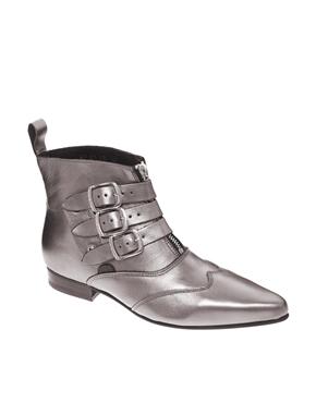 Underground | Underground Blitz Pewter Winklepicker Ankle Boots at ASOS