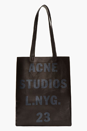 Acne Studios Black Leather Minimalist Rumor Bag for women | SSENSE