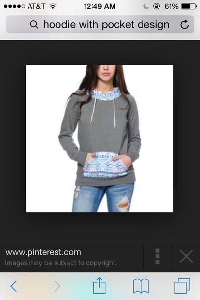 jacket pocket design hoodie
