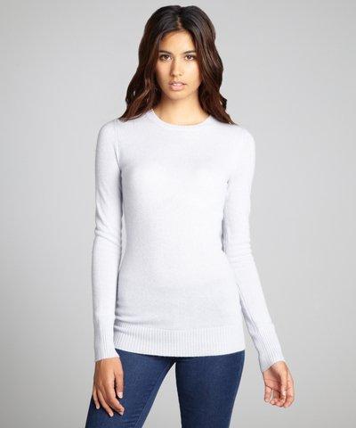 Hayden pink lavender cashmere knit crewneck sweater | BLUEFLY up to 70% off designer brands