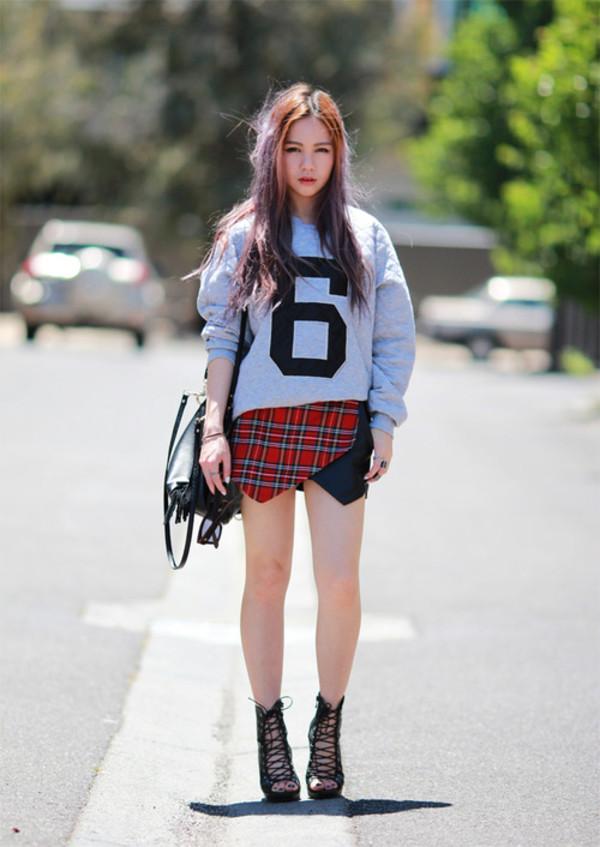 chloe ting sweater bag shoes sunglasses