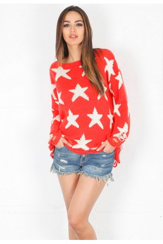 Wildfox Seeing Stars Loose Knit Sweater in Free Love | SINGER22.com