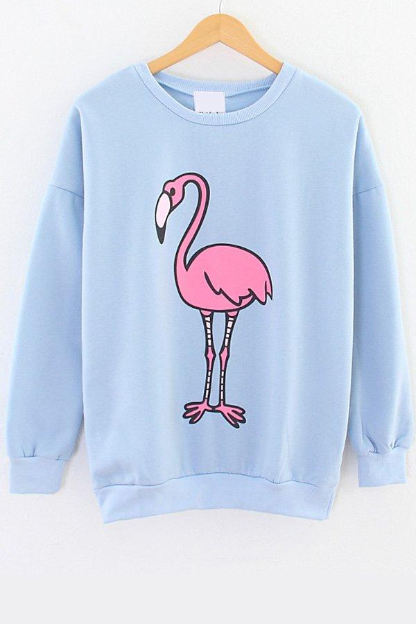 Red-crowned Crane Fleece Sweatshirt on Wanelo