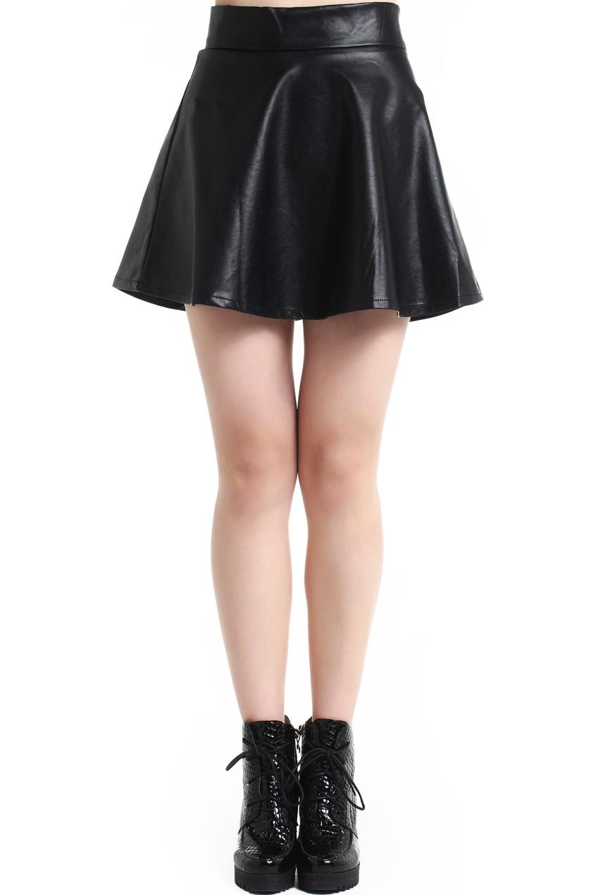 ROMWE | Pleated High Waist Black Slim Skirt, The Latest Street Fashion