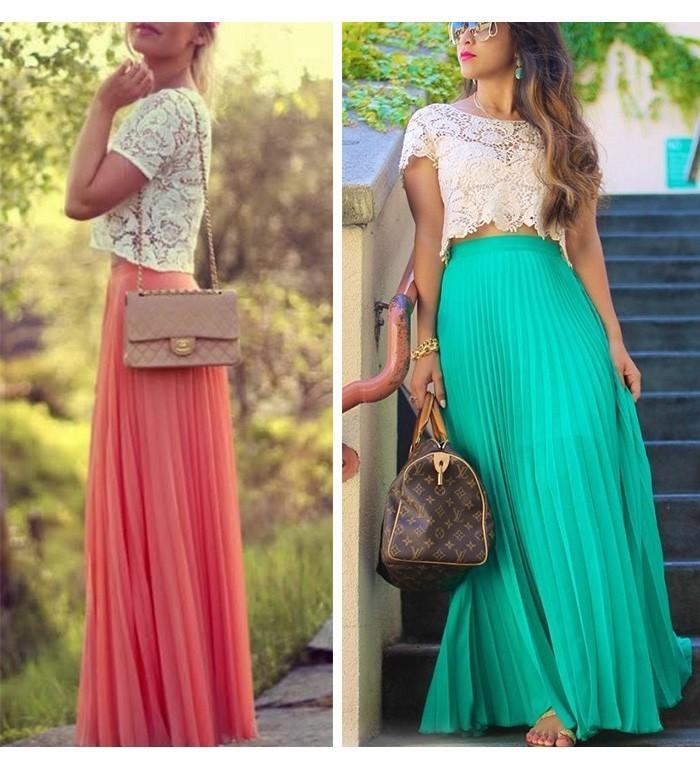 Chiffon Maxi Skirt / klassythreadz