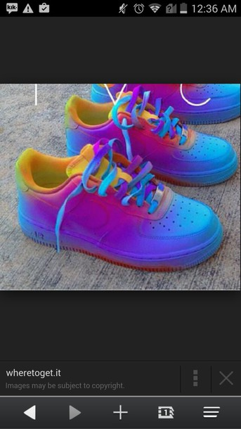 shoes nike air force multicolor nike low top sneakers