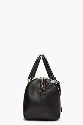Saint Laurent Black Buffed Leather Minimalist Duffle 6 Bag for women | SSENSE
