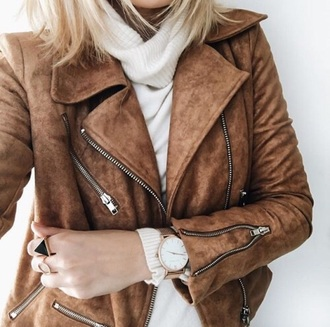 jacket suede jacket brown jacket zip tan suede leather faux brown brown leather jacket brown leather leather jacket leather motorcycle jacket
