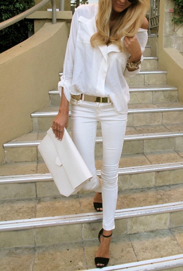 jeans shirt belt bag