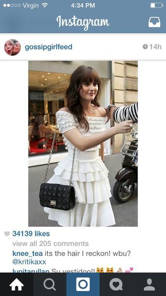 dress white blair waldorf dress