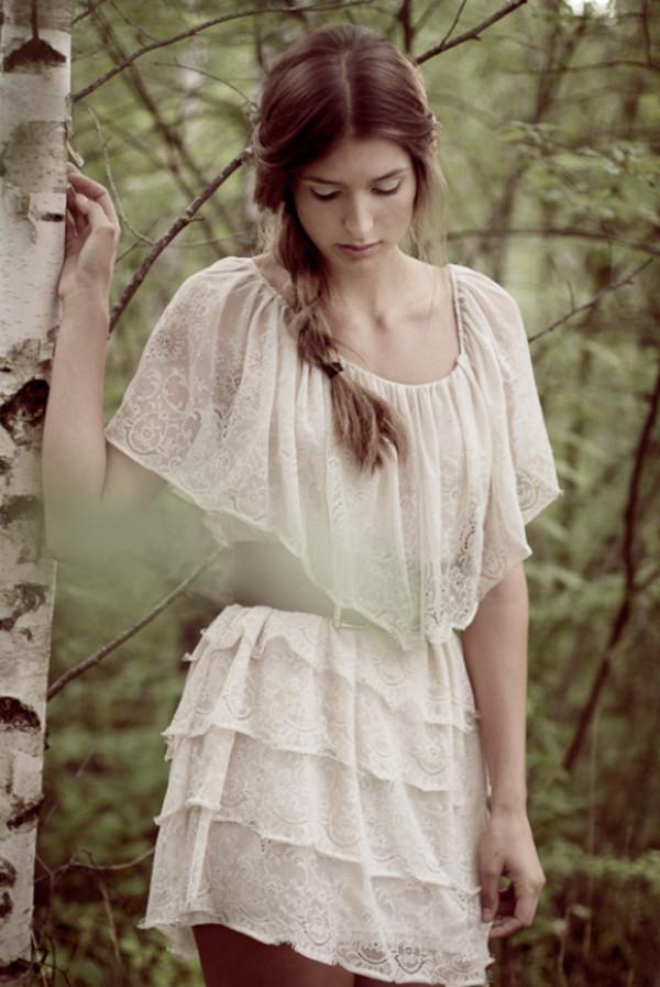 dress romantic summer dress white dress collar lace dress