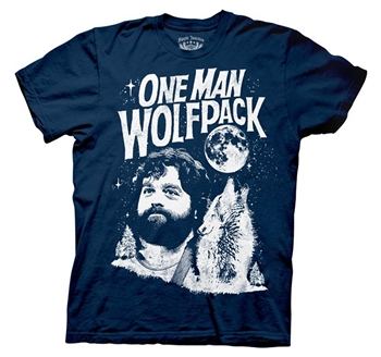 The Hangover Shirts - The Hangover One Man Wolfpack T-Shirt by Animation Shops