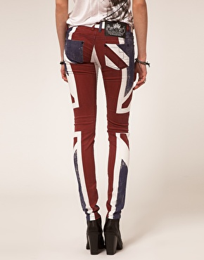 Religion   Religion Skinny Jeans With Union Jack Print at ASOS