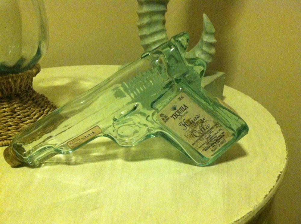 Hijos de Villa Tequila Handgun Decanter Very Nice   eBay