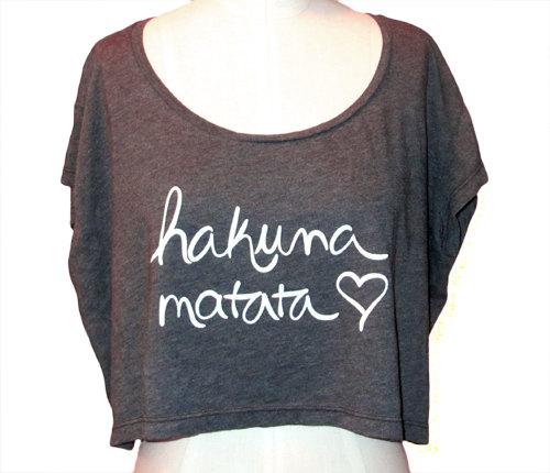 Hakuna Matata Crop Top by KindLabel on Etsy