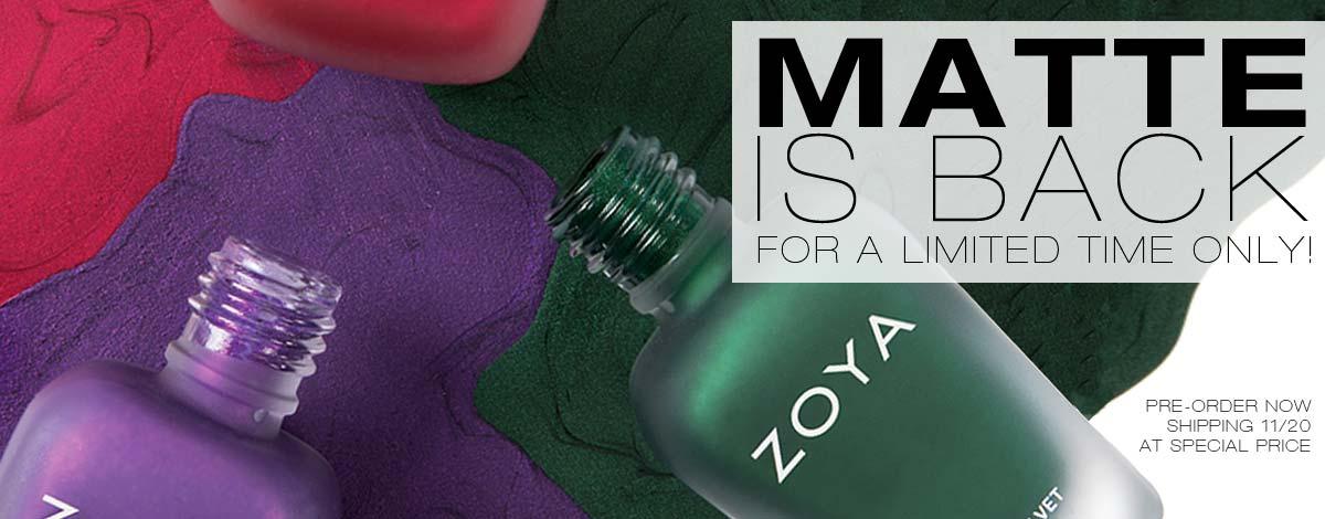 Zoya Matte Velvet Nail Polish Collection