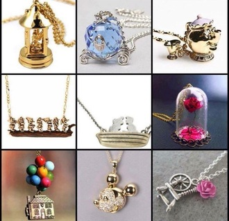 jewels disney sleeping beauty necklace beauty and the beast cinderella snow white