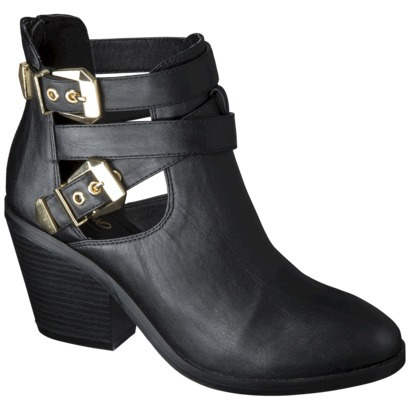 Women's Mossimo® Lina Buckle Ankle Boot - Black : Target