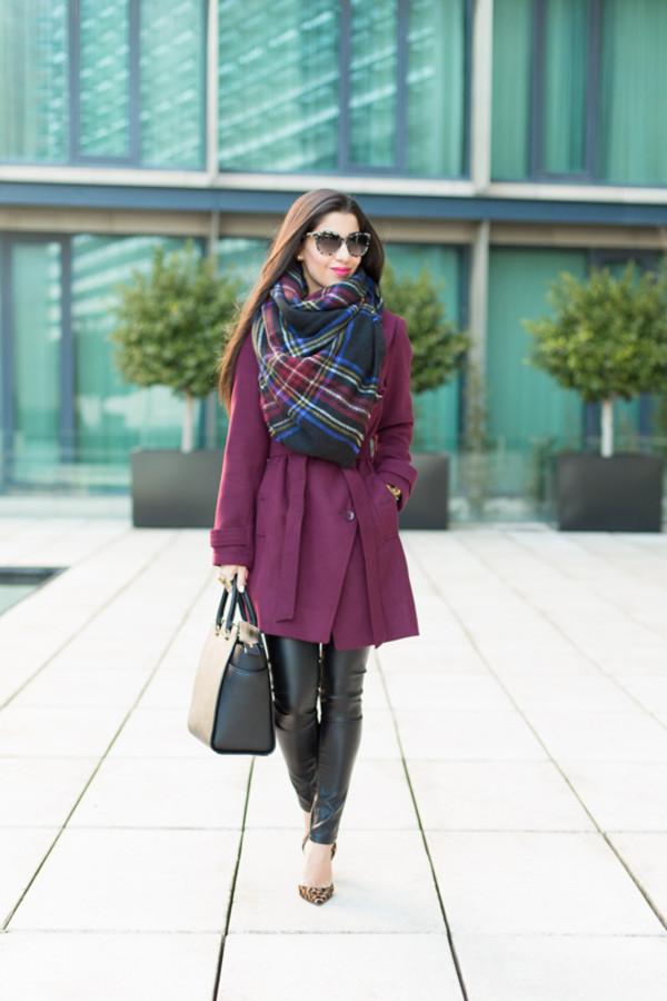 blasfemmes coat scarf pants shoes bag sunglasses jewels