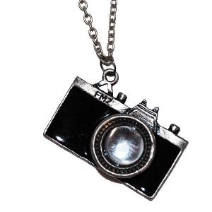 Paparrazi Camera necklace in Black