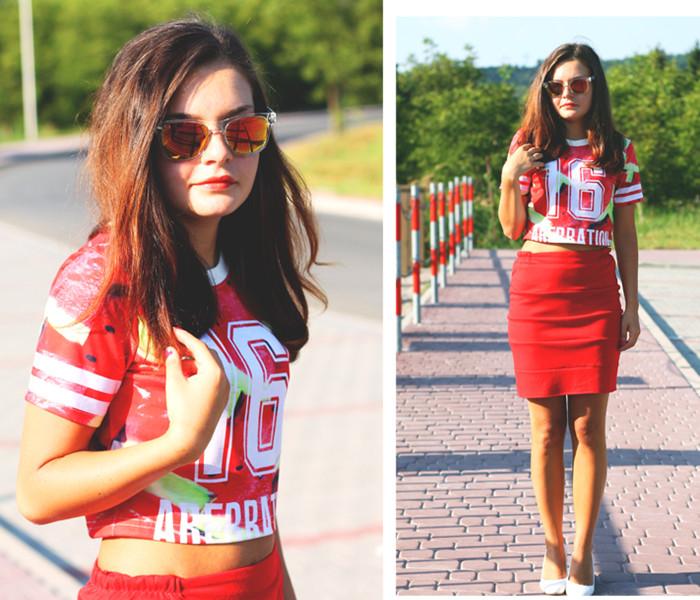 Cute Watermelon T-shirt With NO.16 | Choies