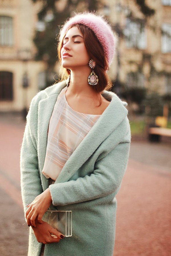 tina sizonova coat hat bag jewels dress shoes