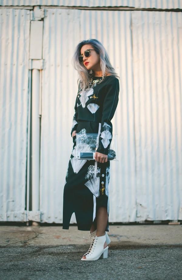 feral creature t-shirt skirt shoes bag sunglasses jewels