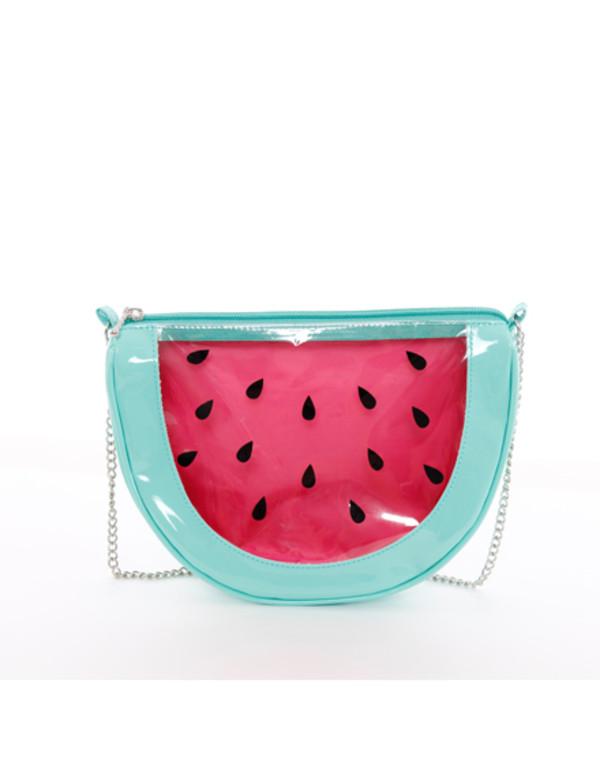 bag bags and purses bag watermelon print sweet fruits radpopsicles