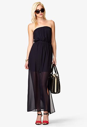 Semi-Sheer Maxi Tube Dress | FOREVER21 - 2000044084