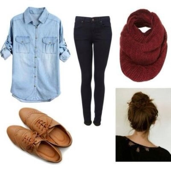 shoes oxfords cute vintage hipster winter outfits fall outfits shirt scarf