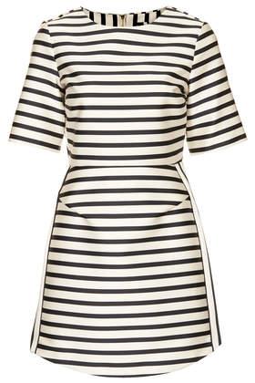 Satin Stripe A-Line Dress - Dresses - Clothing - Topshop USA