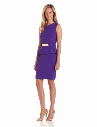 Amazon.com: Sandra Darren Women's Sleeveless Dress With Peplum: Clothing