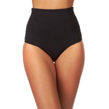 Volcom Rear View High Waist Retro Bikini Bottom - Black